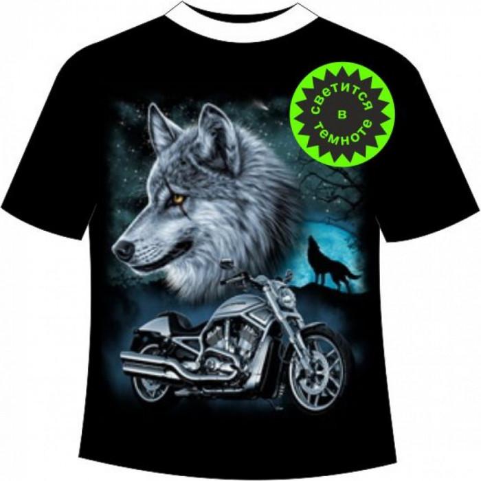 Футболка волк мотоклуб